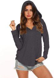 6 색깔 여자 스웨터에 의하여 일렬로 세워지는 형식 긴 소매 두꺼운 옷