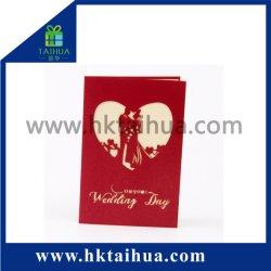Giftcard romantico fatto a mano poco costoso con il reticolo realistico per la festa nuziale