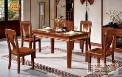Твердые отделанной деревом Домашняя мебель старинной обеденный деревянный обеденный стол и стулья,