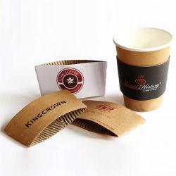 Manicotto di carta doppio ecologico a gettare della tazza di caffè della stampa su ordinazione di marchio
