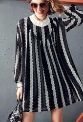 Sexy Lady длинной втулки элегантные Дамы платье женщины платья Maxi Spreader