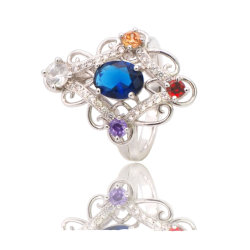 نمو لون زركون حل متمدّدة حجارة حل نساء مجوهرات بيع بالجملة [فينجر رينغ]