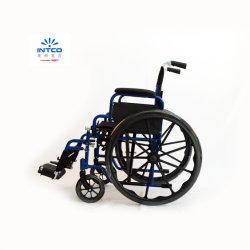 المعدات الطبية طي مقعد ذو عجلات يدوية مع 20 بوصة عرض المقعد