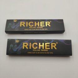 2019 تصميم جديد Cigarette ورق التدحرج مع الذهب رقائق لجميع الأحجام
