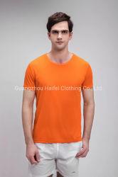良質の通気性の乾燥した速く短い袖の昇進のTシャツ