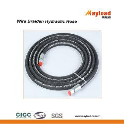 Trenzado de alambre de acero hidráulico de la manguera de goma