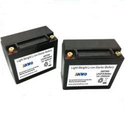 Batterie Lithium léger Starter moto 12V 10Ah avec boîtier ABS M6 M8 Les bornes de batterie au lithium de moto de démarreur