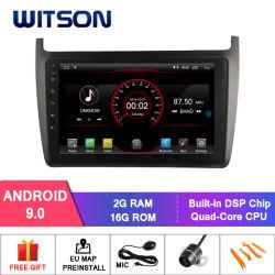 "Witson 9 ""フォルクスワーゲンのポロ2012年のための大きいスクリーンのアンドロイド9.0車DVD"