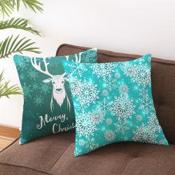 بالجملة [هوت-سلّينغ] عيد ميلاد المسيح زخارف فندق مطعم عطلة غطاء وسادة أريكة وسادة تغطية وسادة حالة منزل نسيج