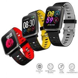 """タッチ画面のスマートなGfitの多彩なUi 1.3の""""心拍数の血の酸素のモニタの移動式ブレスレットのBluetooth音楽Sportwatchの腕時計P11"""