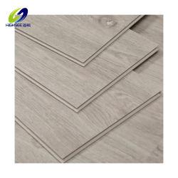 中国の新製品のブラウンSpcの木製の効果のビニールのフロアーリング