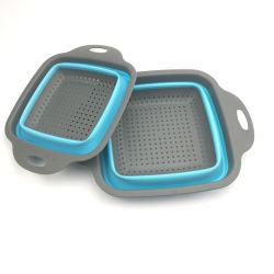 Utensílios de Silicone escorredor de Silicone Dobrável Colapsáveis filtrador de cesto