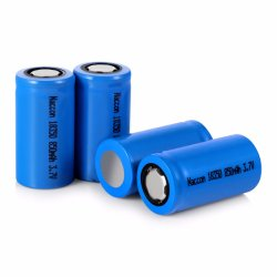 18350 el cilindro de 3.7V 900mAh Li-ion con cabeza plana, la tasa de 10c batería cigarrillo eléctrico