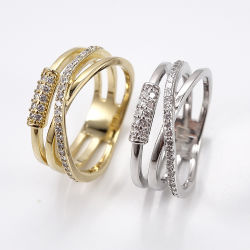 2020 наиболее востребованных ювелирных украшений пользовательского дизайна моды 925 стерлингов Серебряное кольцо с кубической циркон для женщин