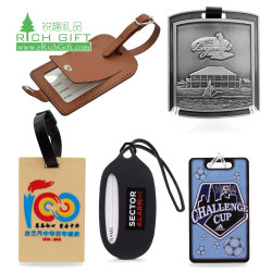Groothandel Bulk Custom Logo Gepersonaliseerde Travel Sublimation Printed Pu Leather Metal Golf Bag Tag 3d Rubber Plastic Silicone Soft Pvc Baggage Id Naam Bagage Tag