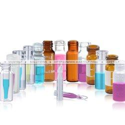 Fiale di vetro e chiusure del grado farmaceutico di marca di Mastelf per gli usi di gascromatografia e di HPLC