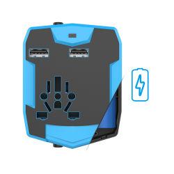 Adaptador de viagem com 6000mAh banco de Alimentação Fonte de alimentação do carregador da bateria
