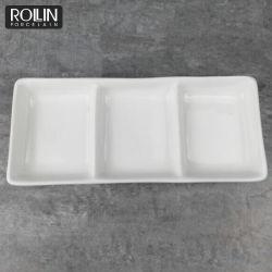 Гостиница качества Белый Соус пластины фарфора в ресторане