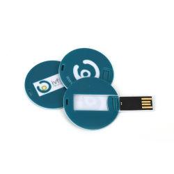 De super Dunne Aandrijving van de Flits van de Vorm USB van de Kaart met Uw Druk van het Embleem