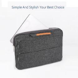 Fabrik geben direkt wasserdichte Polyester-Laptop-Handtasche für MacBook Pro mit der zwei Reißverschluss-Tasche an