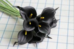 Comercio al por mayor Flores artificiales verdadero toque Lirio de Agua para la decoración de boda