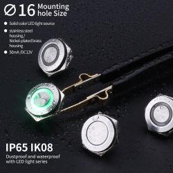 16мм мини-Shot Плоский круглый 1ни один из нержавеющей стали с самовозвратом Micro кнопочный выключатель