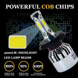 LED H4 H7 H1 H11 H3 H8 H9 9005 HB3 9006 Hb4 881 la bombilla Antiniebla cromado Plata 6500K 72W 8000LM FARO DE LED Lámparas de xenón para coche