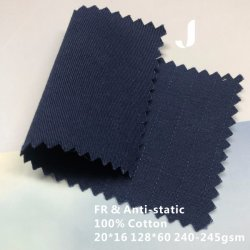 128*60 плотности Саржа из тканого техника и план негорючий и Workwear Anti-Static защитную ткань