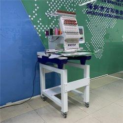 Cabeça única PAC Industrial Tshirt máquina de bordado computadorizada plana com peças