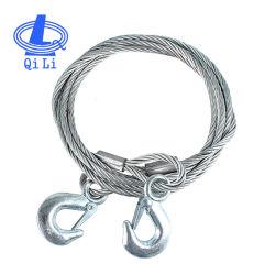 La sécurité de la corde de fils en acier galvanisé les élingues de levage avec 2 crochets