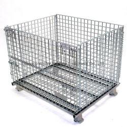 Heavy Duty de malla de alambre de acero desmontable contenedor de almacenamiento de palets de almacén