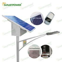 لوحة جينكو للطاقة الشمسية الأكثر مبيعا لوحة قيادة الكربون جل البطارية 60 واط ضوء LED للطاقة الشمسية ستريت مع وحدة التحكم MPPT IP65 مصباح الطاقة الشمسية ضوء LED عالي القدرة