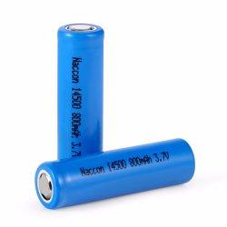 AA Batterie sèche 14500 600mAh au lithium rechargeable Clip XPE Mini Lampe torche à LED de rafles