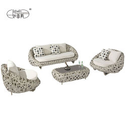 Mobilia esterna del sofà di Spiers del sofà di Kubus del sofà dell'hotel del salotto di Chillout del sofà di svago di Renel del salone della Tabella della presidenza del Lounger tessuta rattan del patio domestico moderno del giardino
