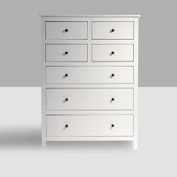 Weiße hohe Brust-chinesische antike Möbel der Abziehvorrichtung-7-Drawer