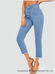 A fábrica nova concepção de atacado de moda casual personalizado mulheres calças retas Senhoras roupas usadas no Outono de denim Pants Sexy Sport Skinny elástica calças jeans Stretch