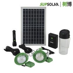 10W PV Solar Energy Hauptmultifunktionsinstallationssätze des Panel-2W LED