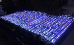 Luz LED de acuario con temporizador de control de brillo ajustable 30W.