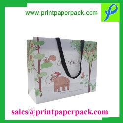 Il marchio su ordinazione del mestiere ha stampato l'acquisto/sacchetto impaccante pieghevole dell'elemento portante, sacchetto dell'imballaggio del regalo riciclato lusso, sacchetto della carta kraft Di modo per il partito/il tè/pattini/i vestiti