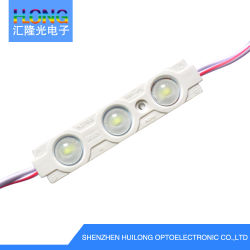 65*15mm 플라스틱 빛난 특성 광고를 위한 렌즈를 가진 방수 75 루멘 LED 모듈은 노래한다