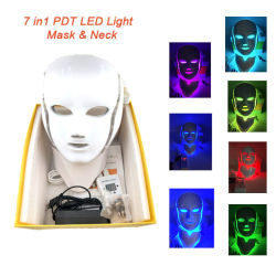 Colori chiari della maschera di protezione di terapia del LED 7 per ringiovanimento della pelle