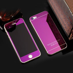 زجاج معدني مستدق من الزجاج الأمامي والخلفي واقي غطاء كامل لهاتف iPhone 6 6s Plus سامونج S6 S6edge