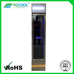 Dünner Typ Bildschirmanzeige-Kühlvorrichtung mit Edelstahl-Rahmen u. Licht RGB-LED für Getränk