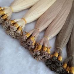 Europea de alta calidad Venta caliente mano atada trama Remy Hair Extension