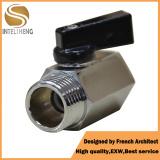 China Standrad Mini Válvula de Esfera de latão com tratamento cromado