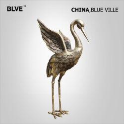 La décoration d'art en métal décore les oiseaux d'animaux pour la vente de bronze sculpture aigrette basc-052
