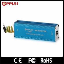 Potência de Ethernet Cat5e trava-quedas de raios protector contra sobretensão Poe de 1 canal