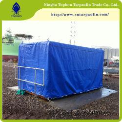 610gsm tecido revestido de PVC de cor azul Tarp para Reboque de cobre