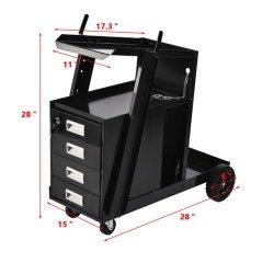 MIG TIG Plasma Cutter le réservoir de stockage de l'Arc W/ Armoire 4 tiroirs soudeur de soudage Panier