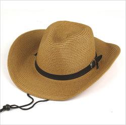 Fabricant professionnel fait l'Ouest en vrac chapeaux de cow-boy pliable de gros de paille